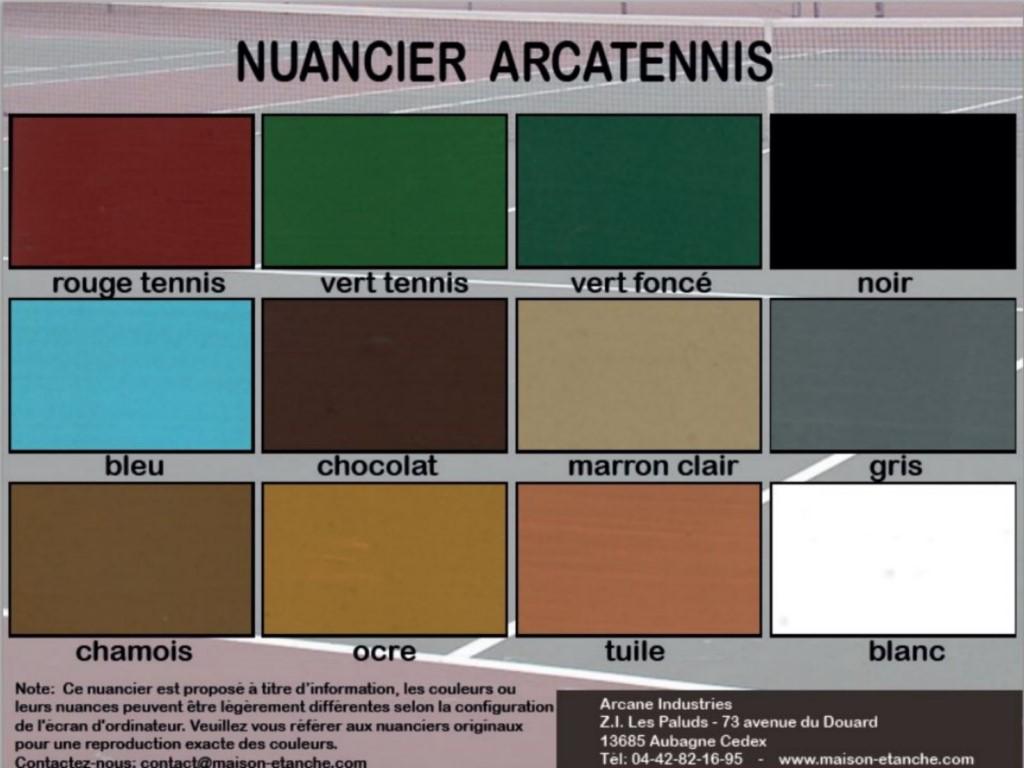 Peinture tennis et sols sportifs arcatennis arcane for Nuancier peinture facade exterieure