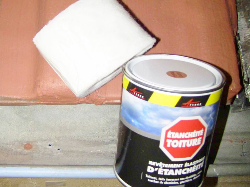 r parer une goutti re trou e avec une peinture d. Black Bedroom Furniture Sets. Home Design Ideas